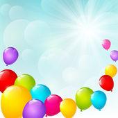 Renk balonlar — Stok Vektör