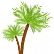 Two palm trees — Stock Vector #42777677