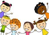 Kids on white — Stock Vector