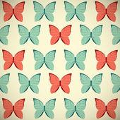 Retro butterflies background — Stock Vector
