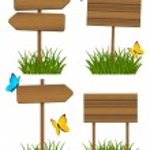 Set of wooden signboards — Stock Vector #45316617