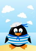 Penguin sailor — Stock Vector