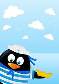 Penguen denizci — Stok Vektör