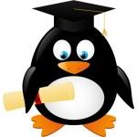 Student penguin — Stock Vector #47548147