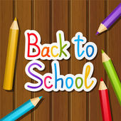 Back to school message — Stock Vector