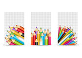 Banners with pencils — Stock Vector