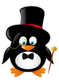 Funny gentleman penguin — Vector de stock