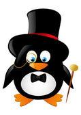 Funny gentleman penguin — 图库矢量图片