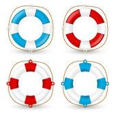 Set of lifebuoy icons — Stock Vector