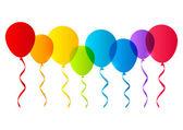 Color balloons — Stock Vector