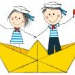 Sailors kids — Stock Vector #49053827