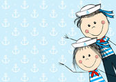 Sailor kids — Stock Vector