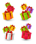 Birthday gift boxes — Stock Vector