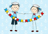 Sailor kids — Stock Vector