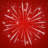 Starry fireworks — Stock Vector