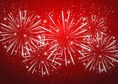 Shiny fireworks — Stock Vector