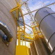 Grain Silos with Yellow Safety Areas — Stock Photo #24795965
