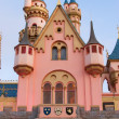 Pink and Blue Fantasy Castle at Disneyland - Stock Photo