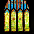 Stained Glass Christian Church Window in Hawaii - Stock Photo