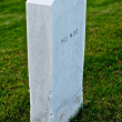 White Marble Headstone or Gravestone — Stock Photo