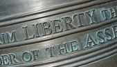Closeup of Lettering on the Liberty Bell-Horizontal — Stock Photo