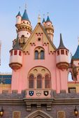 Pink and Blue Fantasy Castle at Disneyland — Stock Photo