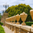 Row of Tall Urns at Stanford University — Stock Photo