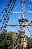 Old Rusted Lantern with Sailing Ship Rigging — Stock Photo