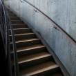 Stock Photo: Metal and Concrete Industrial Curved Staircase