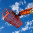 Stock Photo: Orange Construction Utility Lift
