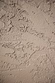 Wall Covered in Brown Stucco Material — Stock Photo