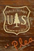US Forest Service Wooden Sign — Stock Photo
