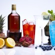 Exotic alcohol drinks — Stock Photo