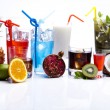 Постер, плакат: Cocktails alcohol drinks with fruits