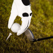 Stockfoto: Golf ball on tee