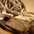 Variety of whole wheat bread - Stock Photo