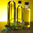 Olive oil bottle — Stock Photo #14214615
