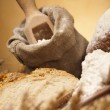 Flour and traditional bread — Stock Photo #14216207