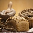 Стоковое фото: Flour and traditional bread