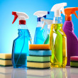 Cleaning supplies - Stock Photo