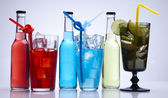 Alcohol drinks set — Stock Photo