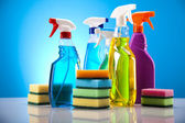 Cleaning supplies — Foto Stock