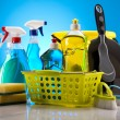 Assorted cleaning products — Stock Photo