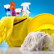 Foto Stock: Group of assorted cleaning