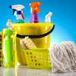 Assorted cleaning products — Foto de Stock