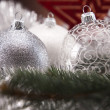 Stock Photo: Traditional Christmas Baubles
