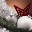Christmas background with baubles — Stock Photo #14228585