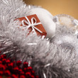 Stock Photo: Christmas background with baubles