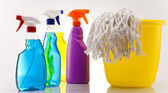 Cleaning supplies — Stock Photo