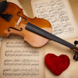 Valentine violin — Stock Photo #14435095